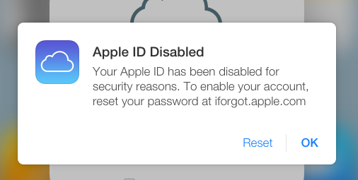 Apple ID disabled (image 001)