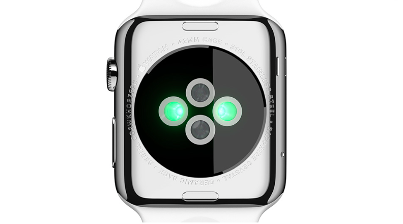 Apple Watch Infrared and visible-light LEDs