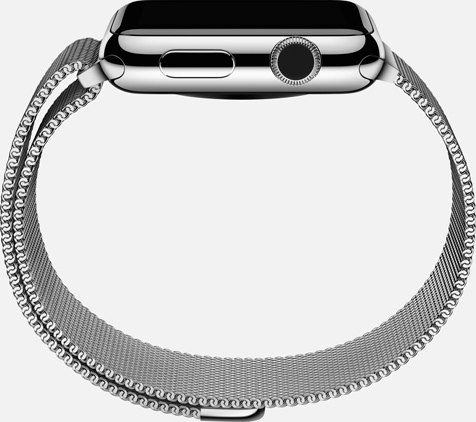 Apple Watch Milanese Loop side