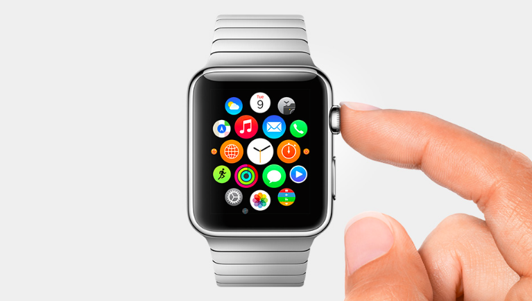 Apple Watch To get to your apps, just press the Digital Crown