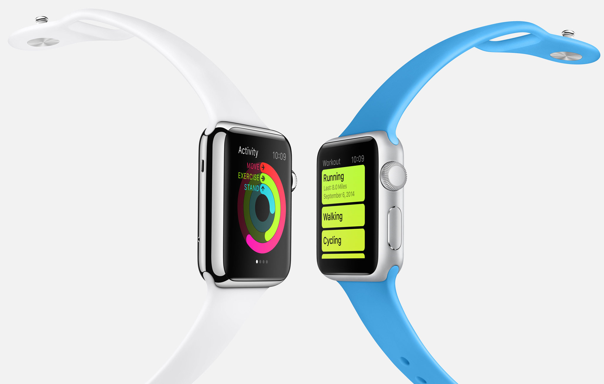 Apple Watch health fitness white blue