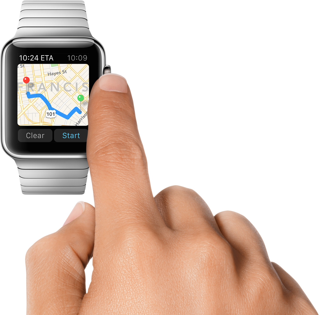 Apple Watch maps crown