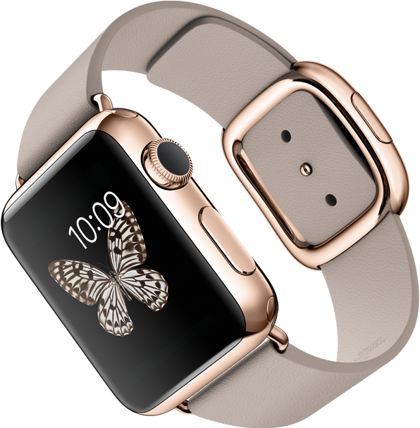 Apple Watch pink gold_leather_large