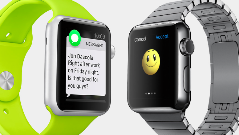 Apple Watch send receive messages