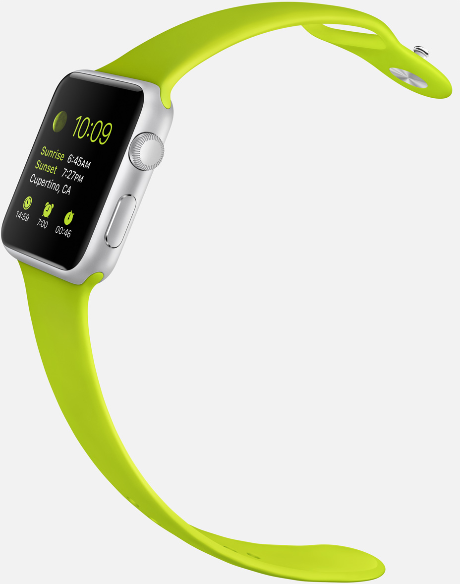 Apple Watch sport green band