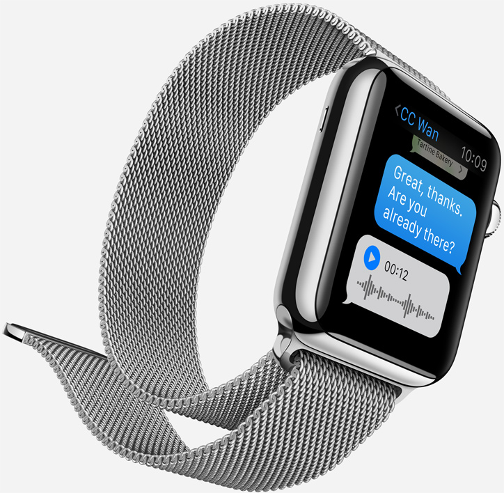 Apple Watch steel case milanese loop