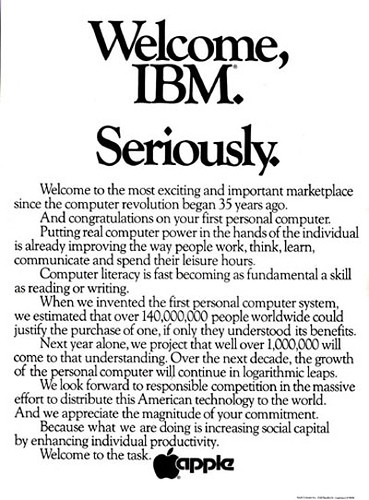 Apple ad (welcome IBM)