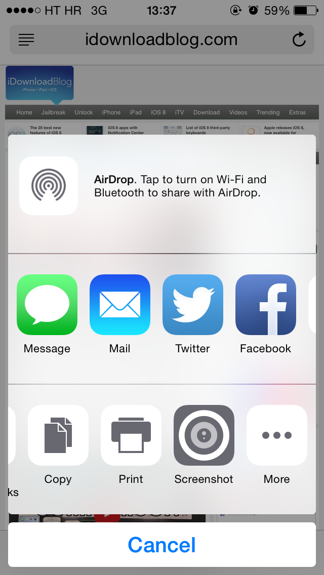 Awesome Screenshot now available as Safari extension on iOS 8