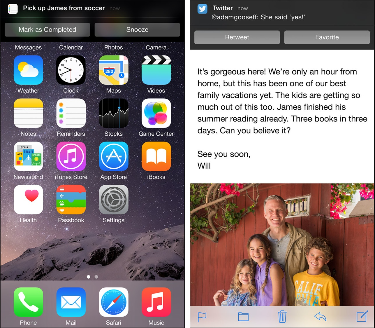 Best iOS 8 features (Interactive Notifications 002)