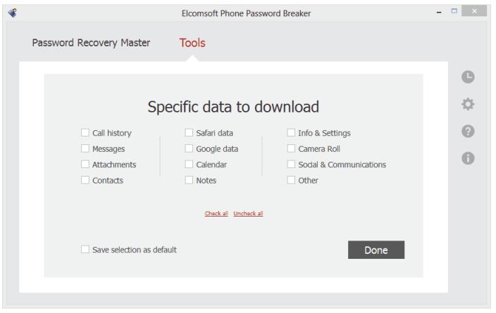Elcomsoft Phone Passwrod Breaker (screenshot 001)