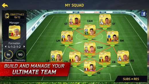 FIFA 15 Ultimate Team 1.0 for iOS (iPhone screenshot 002)