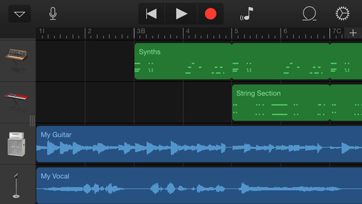 GarageBand 2.0.1 for iOS (iPhone screenshot 001)