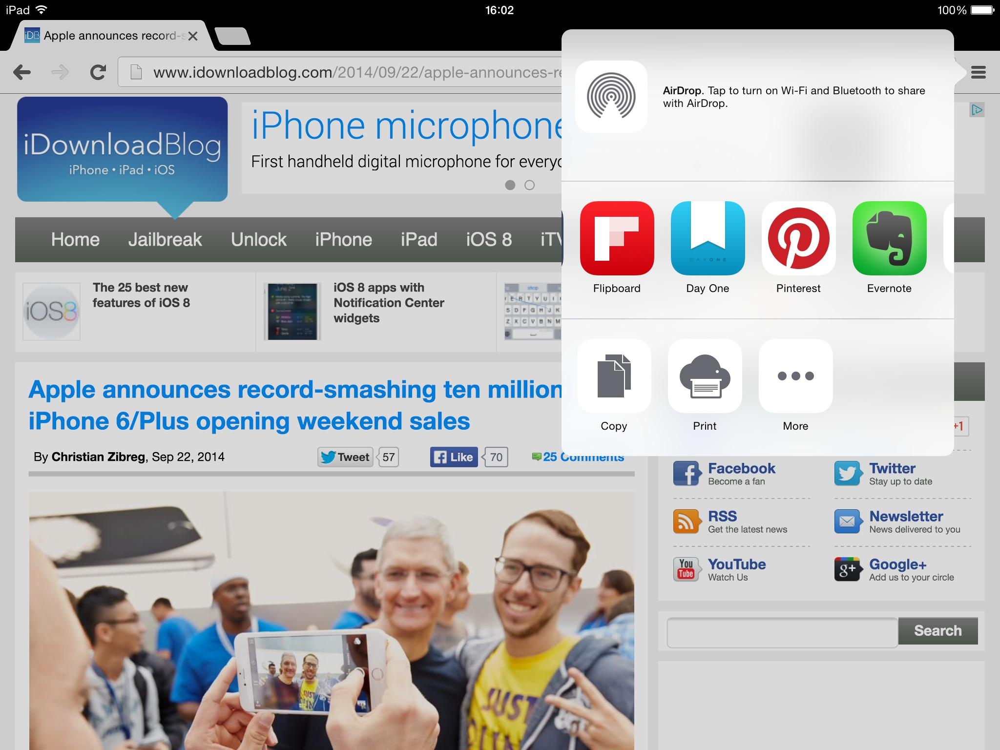 Google Chrome for iOS 37.0.2062.60 (iPad screenshot 002)