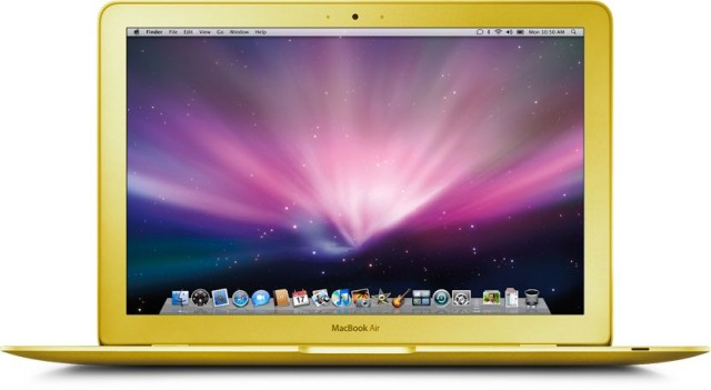 MacBook Air (gold mockup 001)
