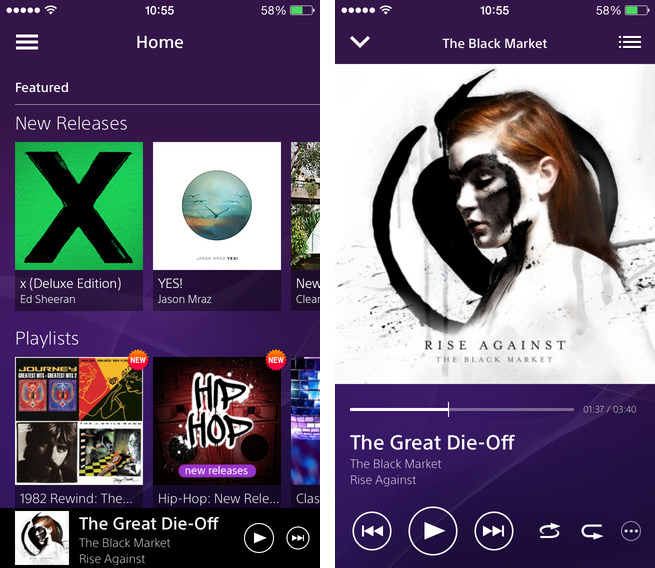 Music Unlimited 2.0 for iOS (iPhone screenshot 001)