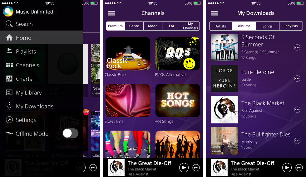Music Unlimited 2.0 for iOS (iPhone screenshot 002)