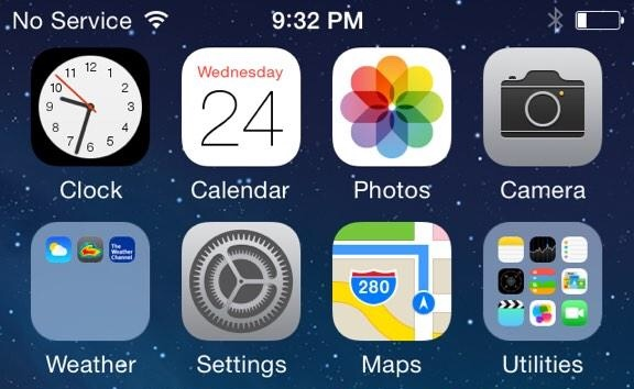 No Service iOS 8