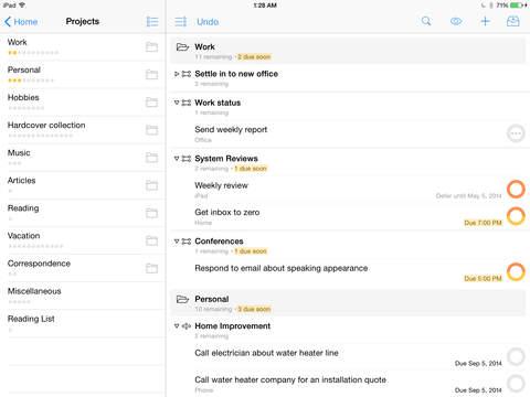 OmniFocus for iPad 1