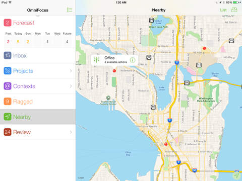 OmniFocus for iPad 2