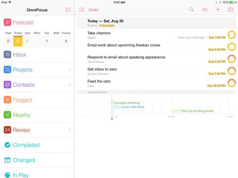 OmniFocus for iPad 3