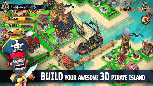 Plunder Pirates 1.0 for iOS (iPhone screenshot 002)