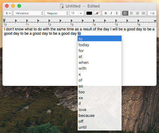 QuickType-prediction-typing-Mac