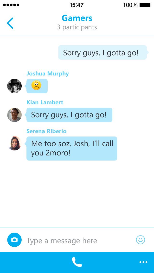 Skype 5.4 for iPhone (screenshot 001)