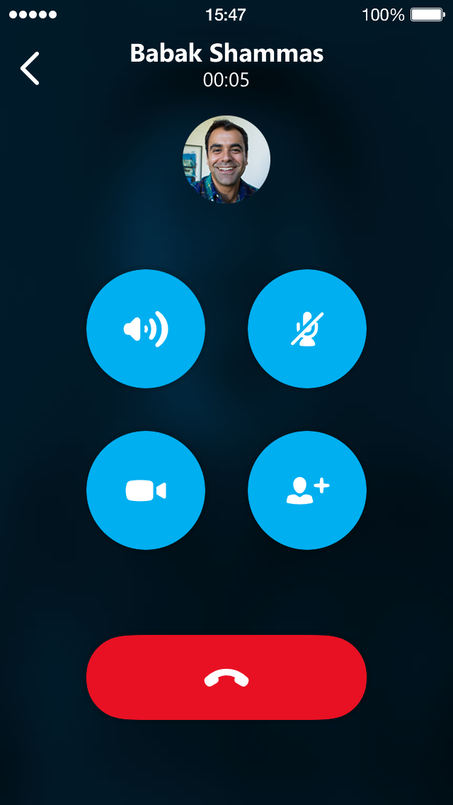 Skype 5.4 for iPhone (screenshot 002)