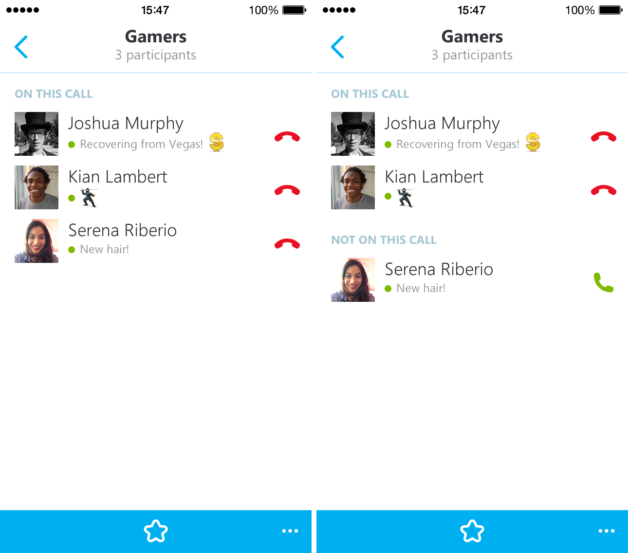 Skype 5.4 for iPhone (screenshot 003)