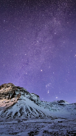 Snow Mountain Stars Wallpaper iPhone 6 Plus preview