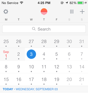 Sunrise Calendar 2.5 for iOS (Search 001)
