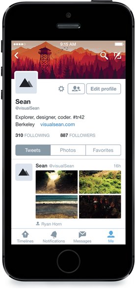 Twitter for iPhone (revamped profiles 001)