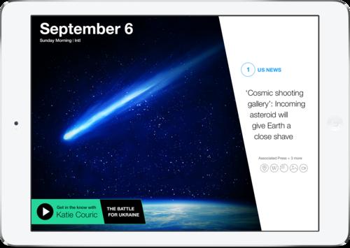 Yahoo News Digest 1.5 para iOS (captura de pantalla 001 del iPad)