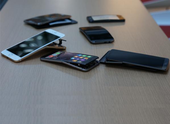 bent smartphones