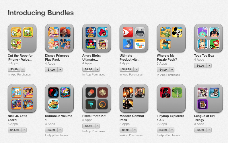 App Bundles go Live on the App Store, Check These Out | Apple iPad Forum