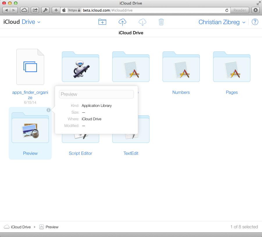 iCloud Beta (iCloud Drive, web screenshot 001)
