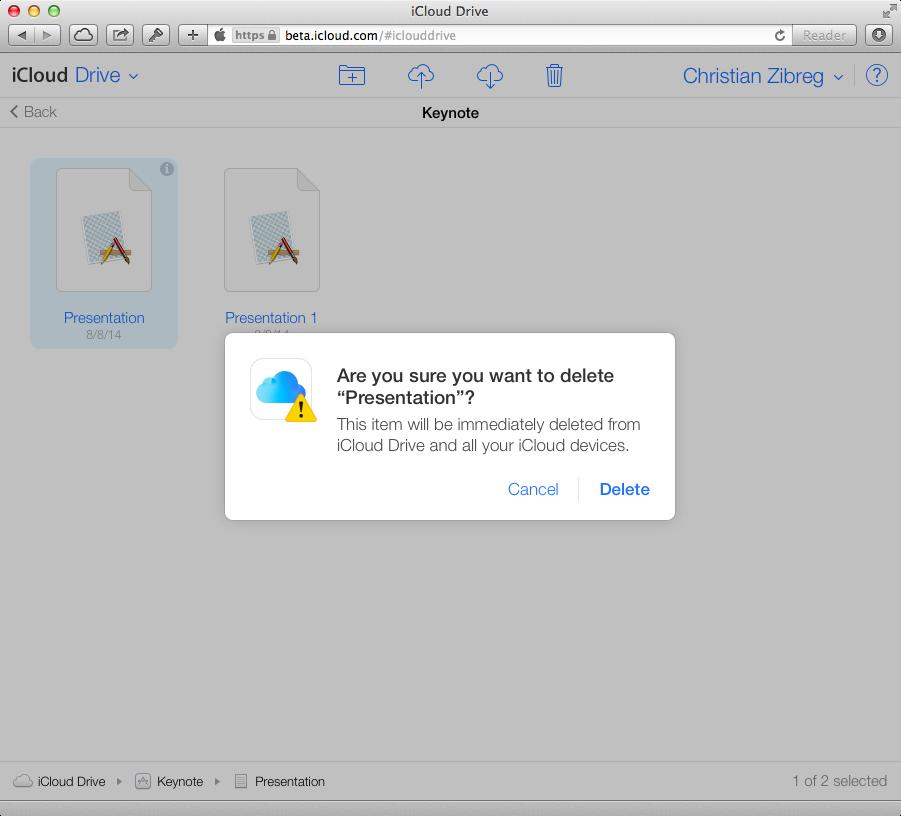 iCloud Beta (iCloud Drive, web screenshot 002)