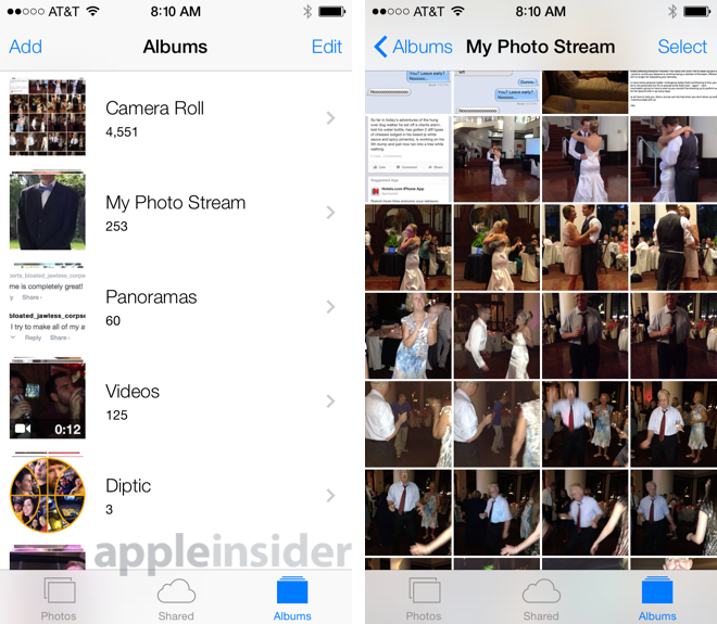 iOS 8 (Camera Roll, AppleInsider 001)