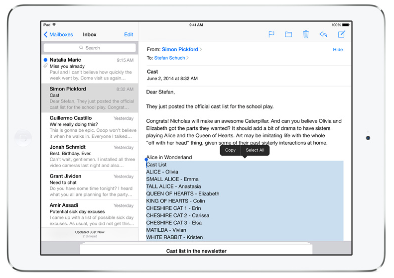 iOS 8 (Mail, Drafts 001)