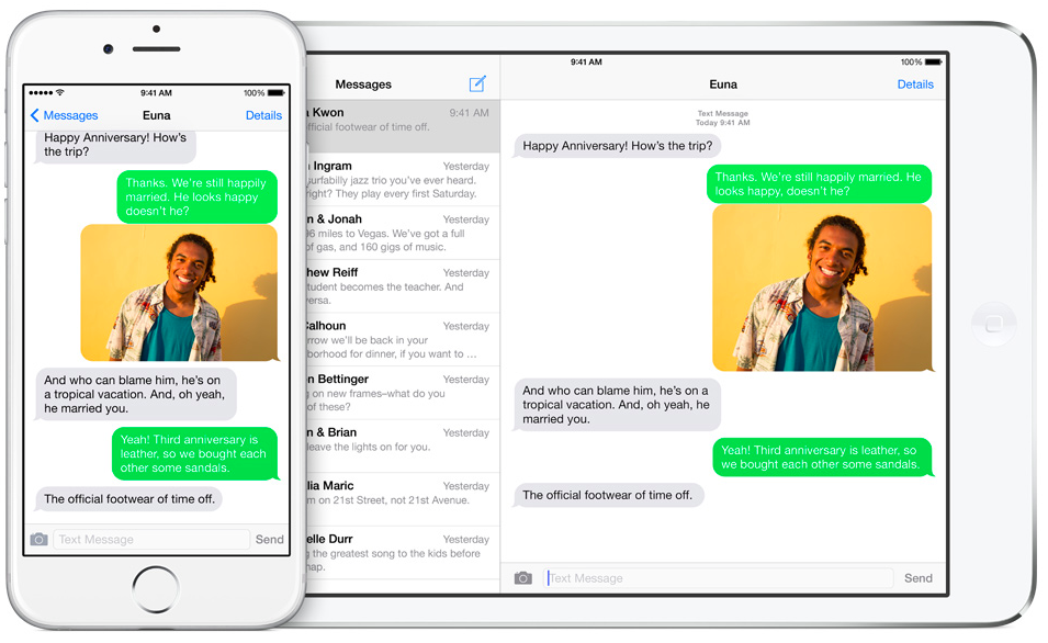 iOS 8 (SMS Relay, iPhone and iPad 001)