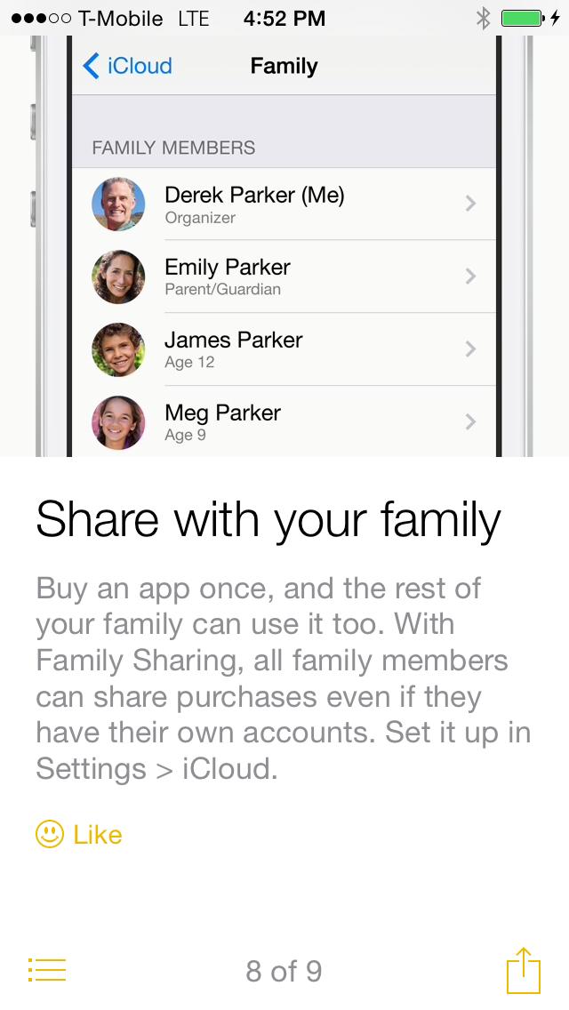 iOS 8 Tips compartir con la familia