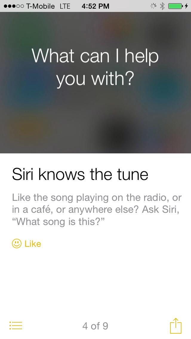 iOS 8 Tips siri knows