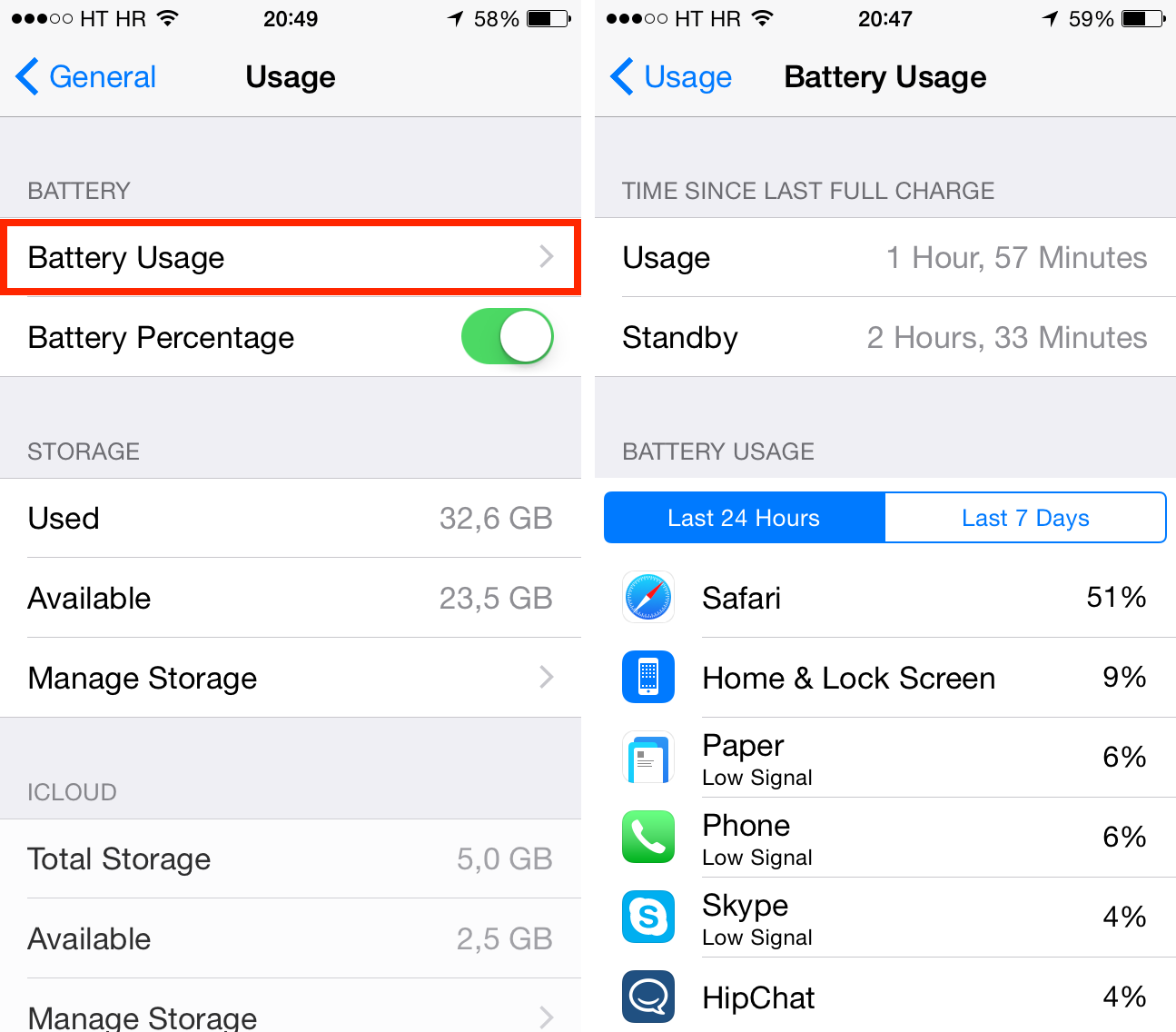 iOS 8 overview (battery by app)