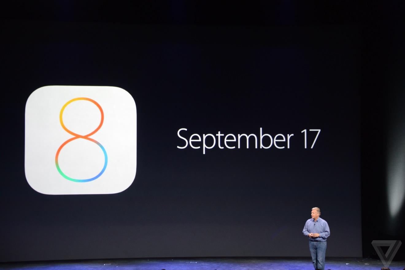 iOS 8 september 17