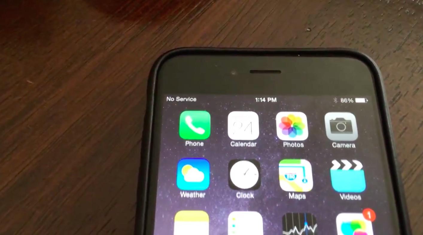 iOS 8.0.1 (No Service 001)