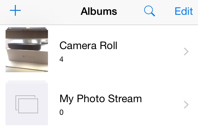 iOS 8.1 beta Camera Roll