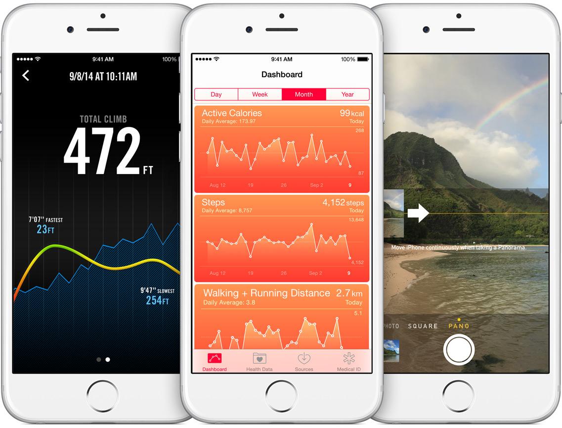 iPhone 6 sensors barometer accelerometer gyroscope