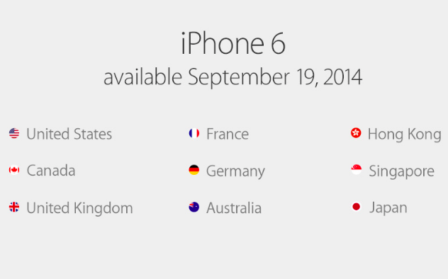 iPhone 6 worldwide availability