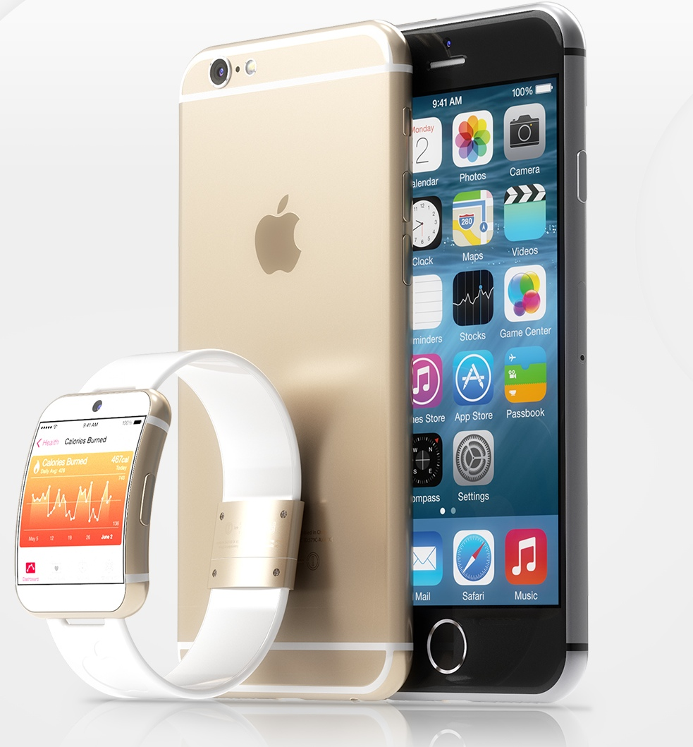 iWatch and iPhone 6 mockup (Martin Hajek 001)