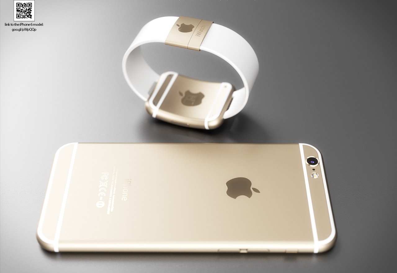 iWatch and iPhone 6 mockup (Martin Hajek 002)